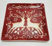 Susan Winget-Certified International-Square-Plate-Christmas/Raindeer