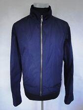 Daks London Jacke Blouson Regenjacke Blau Unifarben Gr. 50
