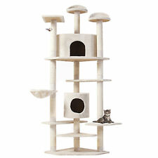 "80"" Cat Tree Condo Furniture Toy Scratching Post Kitten House Pet supplies"