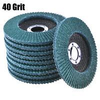 10pcs 40 Grit 4.5'' Zirconia Angle Grinder Flap Disc Abrasive Sanding Wheels