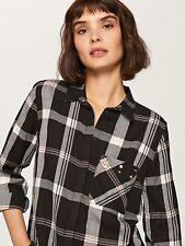 Reserved Womens Embellished Pocket Check Shirt Size 12 BNWT Multi Uk Freepost