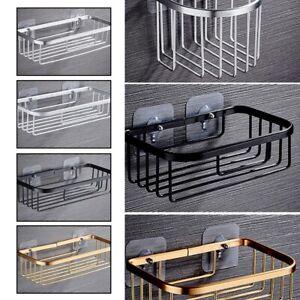 Aluminum Non Rust Bathroom Shower Shelf Storage Suction Basket Tidy Caddy New