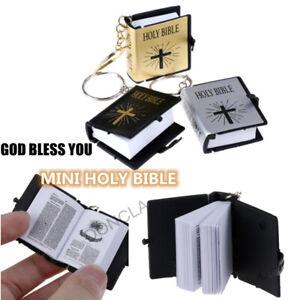 Mini English Holy bible Keychain Religious Christian Jesus Cross Key 3 Color
