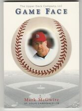 2000 UPPER DECK GAME FACE MARK MCGWIRE CARD