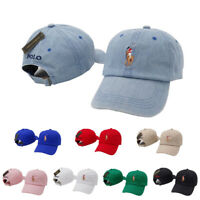 New Men's Polo Baseball Cap Sport Adjustable Mens Womens Golf Pony Hat Cotton