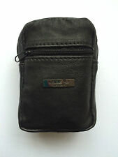 Lorenz Soft Black Leather Zip Top Cigarette Holder Case Pouch Lighter Holder