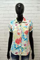 Camicia Donna FRACOMINA Taglia Size S Maglia Chemise Shirt Woman Floreale Casual