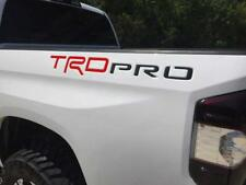 BDTrims Red & Black TRD Pro Letters for Toyota Tundra 2014-2019 Plastic Inserts