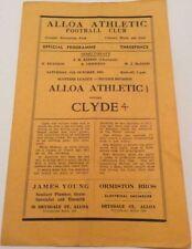 Past Domestic Leagues Clyde Teams C-E Football Programmes