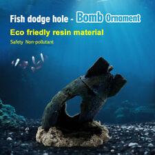 Broken Battle Bomb Halloween Decor for Aquarium Fish Tank Underwater Landscape