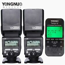 2pcs YN685 Wireless HSS Flash Speedlite +  YONGNUO YN622C-TX controller Fr Canon