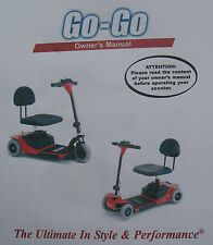 Pride Mobility GO GO GO-GO Scooter User Owner Instruction Manual Guide