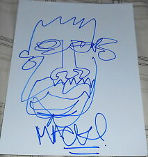 MACKLEMORE SIGNED AUTOGRAPH NEW ORIGINAL SELF PORTRAIT DETAILED SKETCH ARTWORK