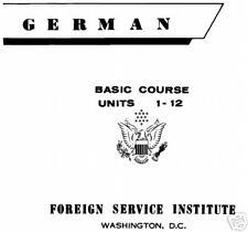 34 Hours GERMAN BASIC COURSE LANGUAGE FSI Audio on DVD