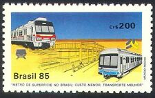 Brazil 1985 Metro/Railway/Rail/Trains/Transport/Station 1v (n25904)