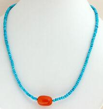 cuello dama Collar de piedras preciosas FACETADO TURQUESA Cornalina azul