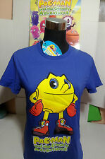 "PAC-MAN T-SHIRT TG.""S"" MAGLIETTA BLU BANDAI AND GHOSTLY ADVENTURES ORIGINALE"