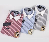 NEW TOMMY HILFIGER MEN'S CUSTOM FIT LONG SLEEVE DRESS SHIRT