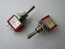 SG 2 Pcs Toggle Switch SPDT on/on Centre off  3-position col red  MTS103R