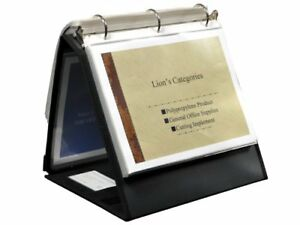 """Lion Insta-cover Ring Easel Binder - Letter - 8.50"""" X 11"""" - 3 X Round Ring"""
