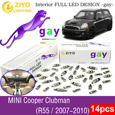 14Bulb Deluxe White LED Interior Light Kit For R55 2007-2010 MINI COOPER CLUBMAN
