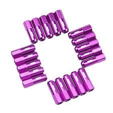 20 Purple 60MM Tuner Wheel Lug Nuts M12x1.5 Aluminum Extended fits Honda Acura