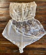 Vtg Flora Nikrooz Bridal Antique Lace 1970's Sexy Romper Excellent Condition!