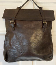 Mulberry Chocolate Brown Pebbled Leather Natural Briefcase Satchel Messenger Bag