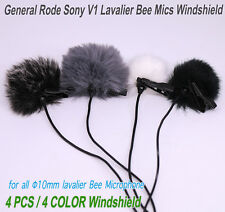 4x Windscreen for Lavalier Microphone SONY RODE Shure all Φ10mm Lapel Clip Mics
