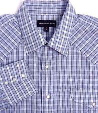 Panhandle Slim Mens Pearl Snap Western Shirt Size XL 17 / 34 Blue Cotton Blend