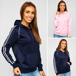 Kapuzenpullover Sweatshirt Pullover Kapuze Casual Sport Damen BOLF Unifarben
