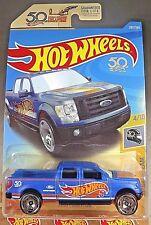 2018 Hot Wheels #287 HW 50th Race Team 4/10 2009 FORD F-150 Blue w/50th Wheels