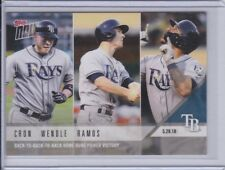 2018 Topps NOW 265 CJ Cron Joey Wendle Ramos Tampa Bay Rays [5.29.18] ~ PR 254