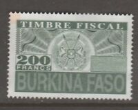Africa France revenue fiscal stamp 2-19-21 used  Burkino Faso no gum