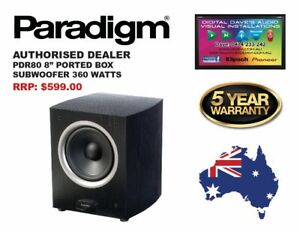 """PARADIGM: PDR-80 Subwoofer. 8"""" Ported Box, 360 Watts. Brand New. RRP: $599"""