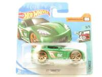 Hotwheels C6 Corvette Green Tooned FJY46 Short Card 1 64 Scale Sealed