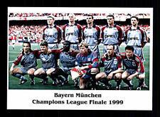 FC Bayern München Mannschaftskarte Champions-League-Finale 1999