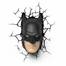 BATMAN MASK 3D LED WALL LIGHT KIDS BEDROOM LIGHTING OFFICIAL NEW FREE P+P