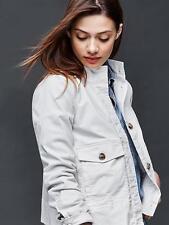 NWT GAP Women's Utility Swing Jacket, Ivory/Snow SIZE L     #177700