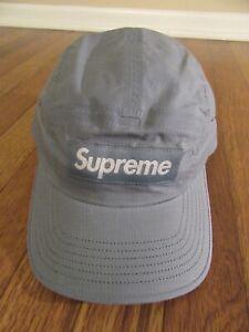Supreme Dry Wax Cotton Camp Cap Hat Bright Slate FW20 Supreme New York 2020 New