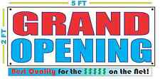 2x5 RWB GRAND OPENING Banner Sign NEW Larger Size Best Quality for the $$$
