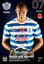 QPR v MAN CITY 2014/15 MINT PROGRAMME MANCHESTER