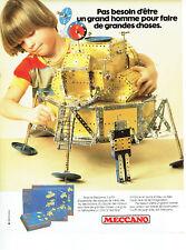 Publicité Advertising 127  1980  jeux jouets Meccano