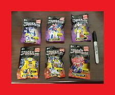 Transformers G1 New Mini Figurine Lot of 6,Hasbro,Prexio,Optimus Prime,Megatron