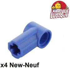 Lego technic - 4x Axe Axle pin connector angled #1 bleu/blue 32013 NEUF
