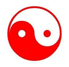 Yin Yang Circle Round Logo Sticker Decal Graphic Vinyl Label Red