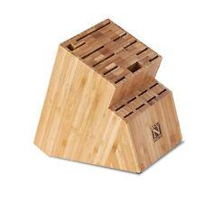 Cook N Home Bamboo Knife Storage Block, 19 Slot