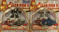 Marvel Super Hero Squad Iron Man 3 Expo Air Assault + Battle Vault 3 Pack Lot