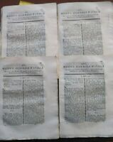 1791 NUOVO GIORNALE D'ITALIA: 4 MEMORIE SULL'AGRICOLTURA DELLA DALMAZIA