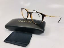 e0a7a2f9026c New Versace MOD 3227 138 Black on Brown with Gold Eyeglasses 51mm with Case